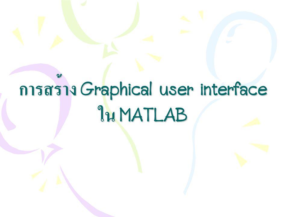 การสร้าง Graphical user interface ใน MATLAB