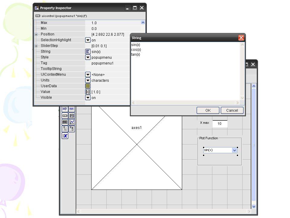 ตัวอย่าง Callback สำหรับ Slider และ Edit