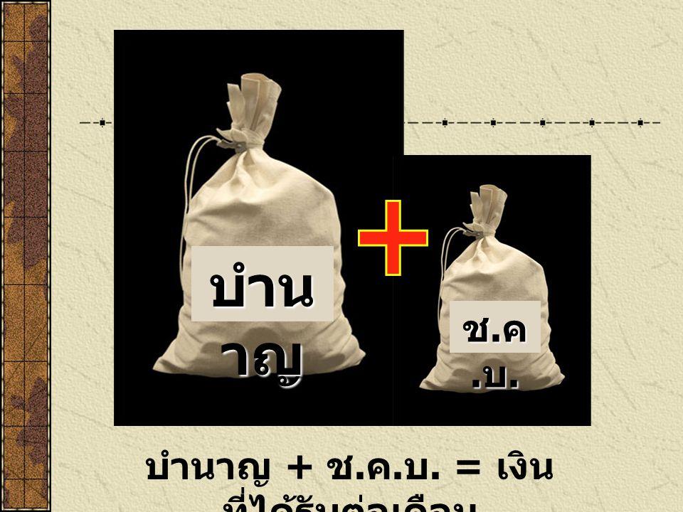เงินช่วยค่าครองชีพ ผู้รับเบี้ย หวัด บำนาญ ( ช.ค.