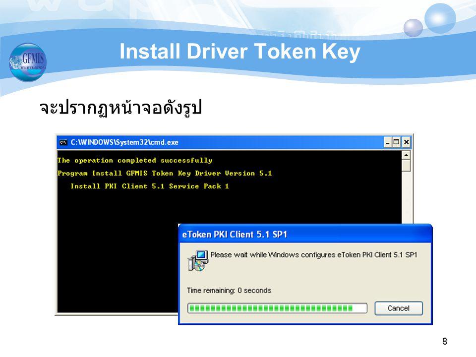 19 Remove Driver Token Key 4. คลิก Yes รอสักครู่ 5. คลิก Yes