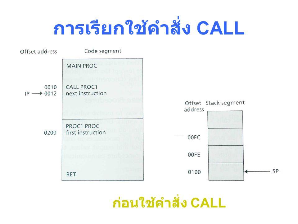 การเรียกใช้คำสั่ง CALL ก่อนใช้คำสั่ง CALL