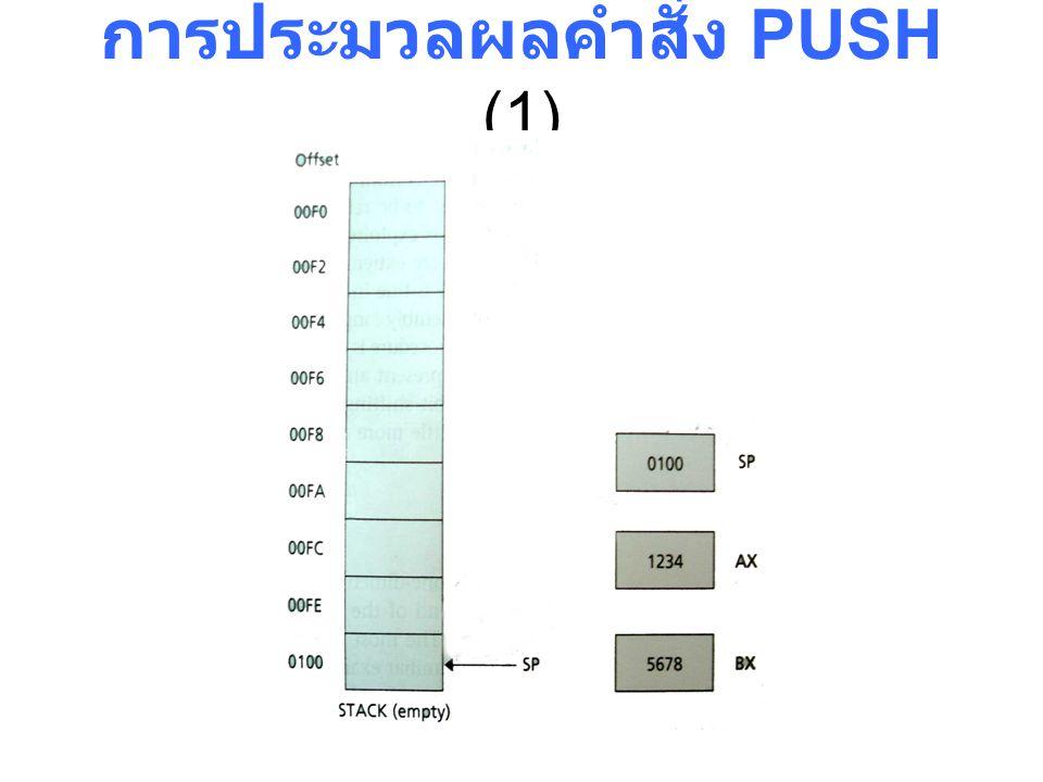 การประมวลผลคำสั่ง PUSH (1)