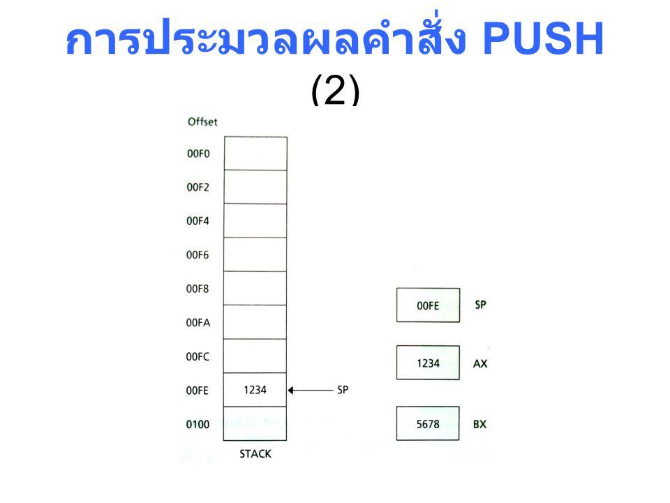 การประมวลผลคำสั่ง PUSH (2)
