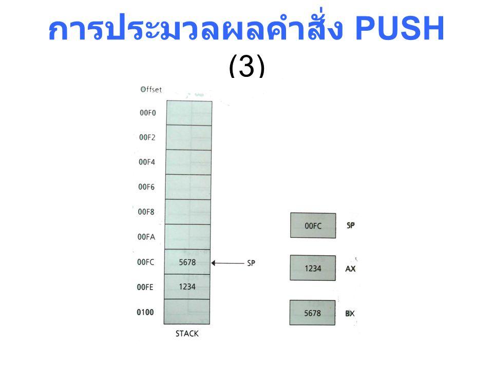 การประมวลผลคำสั่ง PUSH (3)