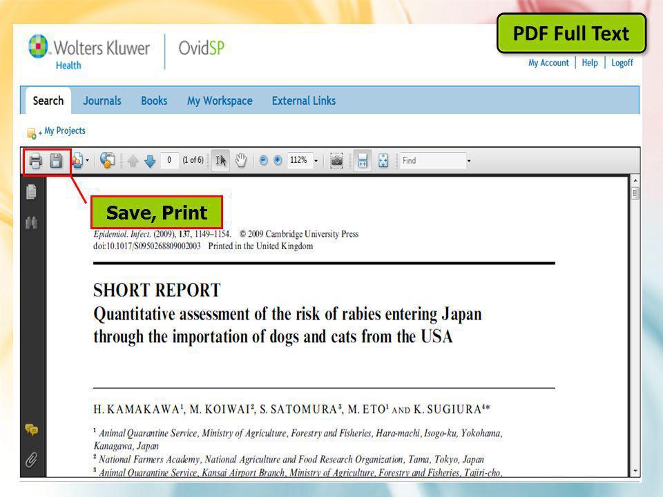 Save, Print PDF Full Text