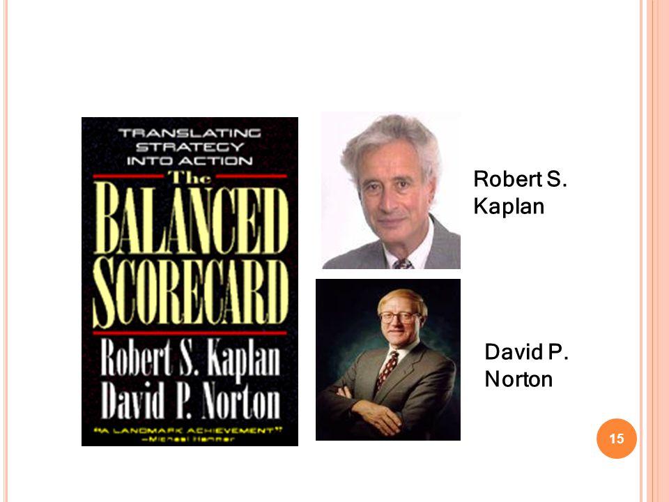 Robert S. Kaplan David P. Norton 15