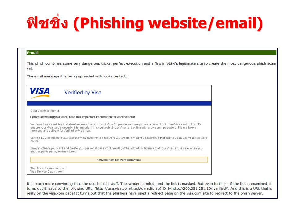 ฟิชชิ่ง (Phishing website/email)