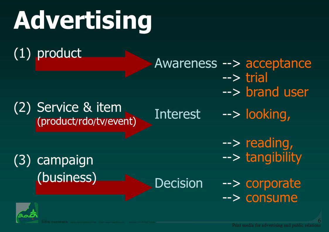 Print media for advertising and public relations 17 ลักษณะที่ดีของข้อความโฆษณา 1.ความชัดเจน (Clearness) เข้าใจง่าย ไม่คลุมเครือ 2.