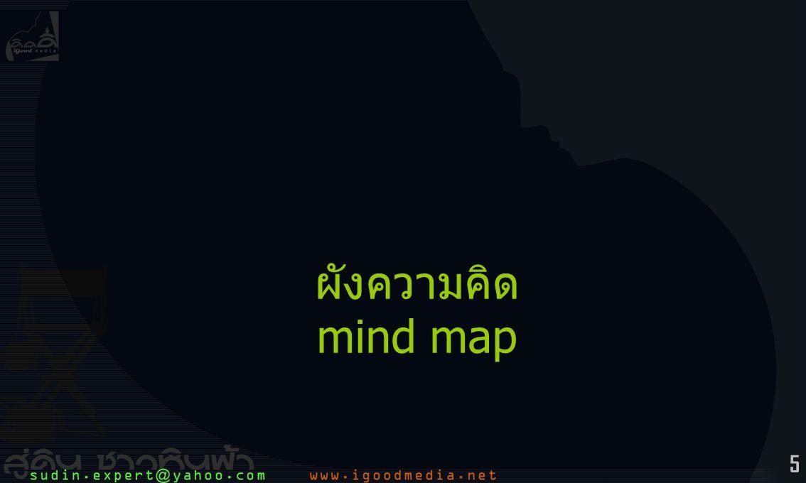 6 การสร้าง mind map (1)ค้นหา ความสัมพันธ์ ของความคิดหลัก และ ความคิดรอง (2)คิดคำพูดสั้นๆ กระชับ (มักใช้ icon แทน) (3)เส้นความคิดหลัก) จากศูนย์กลาง จะโยงสัมพันธ์ ไปยังเส้นความคิดย่อย definition / mind map