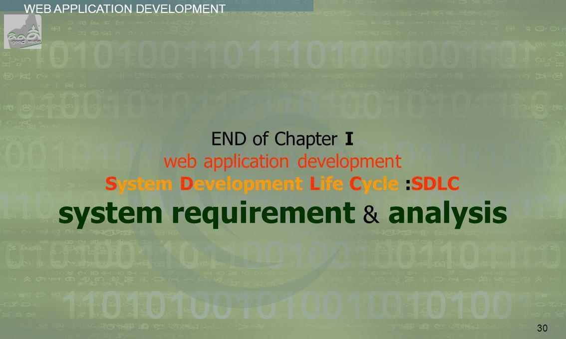 30 WEB APPLICATION DEVELOPMENT................
