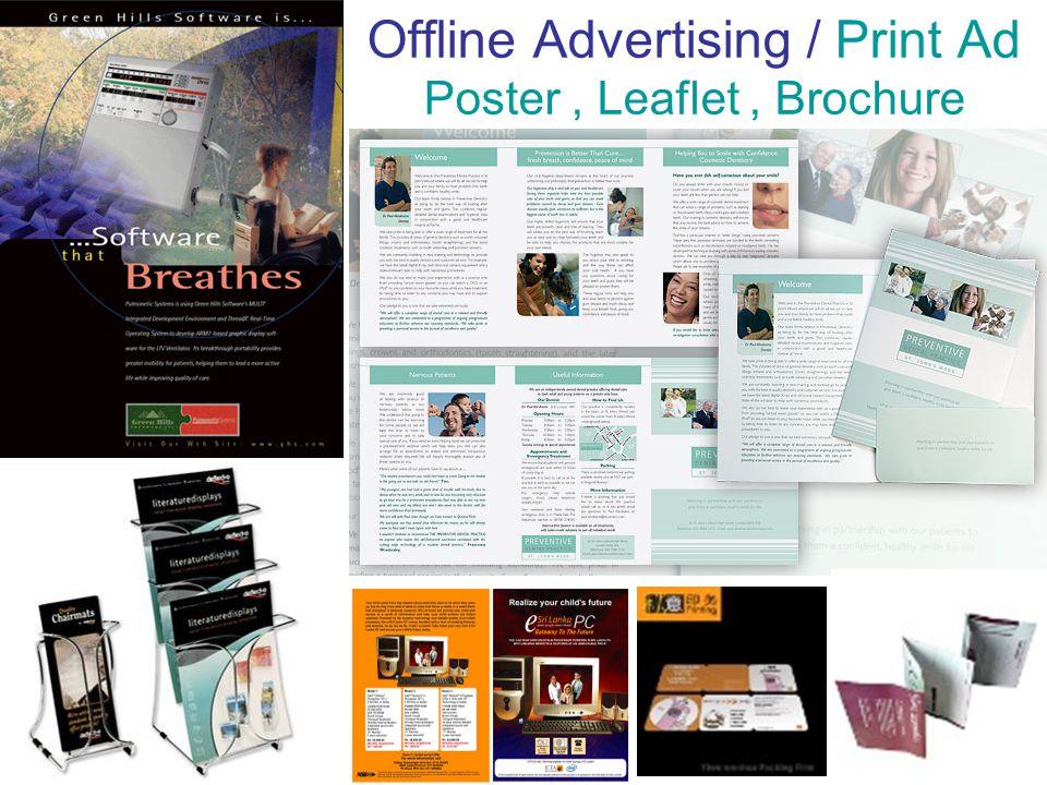 Offline Advertising / Print Ad Poster, Leaflet, Brochure