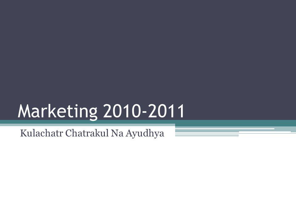 Marketing 2010-2011 Kulachatr Chatrakul Na Ayudhya