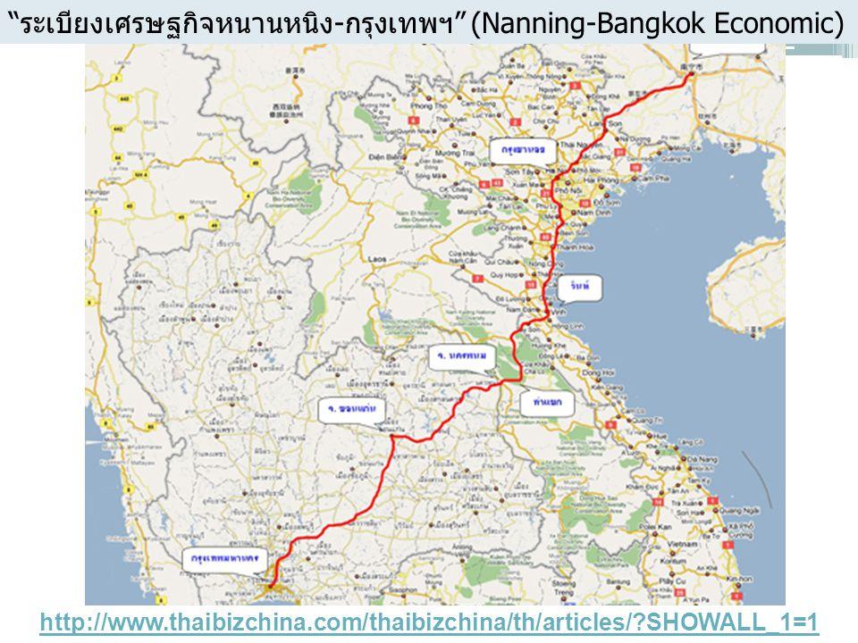 "http://www.thaibizchina.com/thaibizchina/th/articles/?SHOWALL_1=1 ""ระเบียงเศรษฐกิจหนานหนิง-กรุงเทพฯ"" (Nanning-Bangkok Economic)"