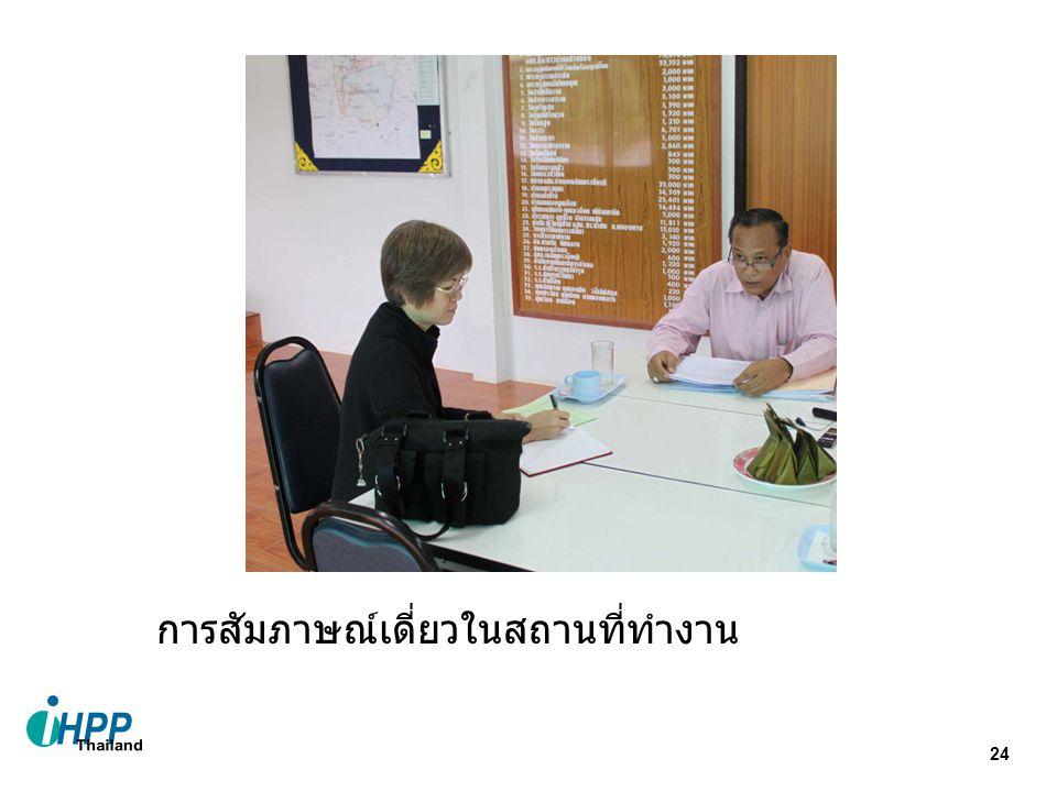 24 การสัมภาษณ์เดี่ยวในสถานที่ทำงาน