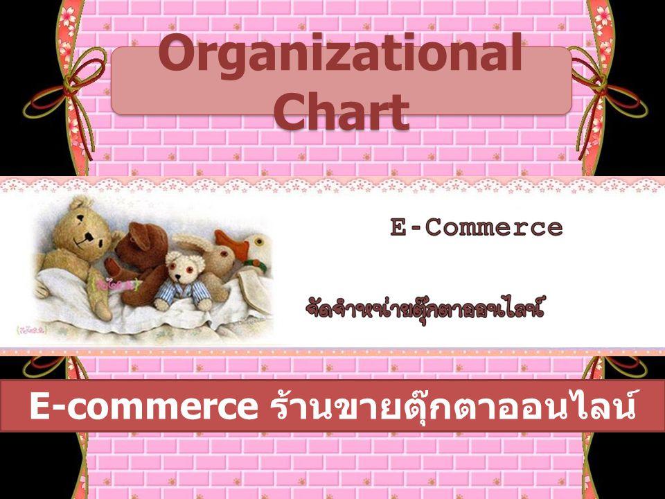 Organizational Chart E-commerce ร้านขายตุ๊กตาออนไลน์