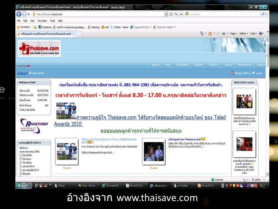อ้างอิงจาก www.thaisave.com