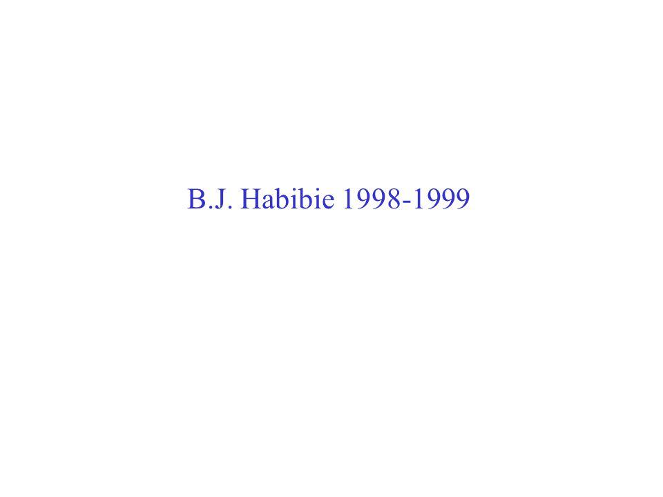 B.J. Habibie 1998-1999