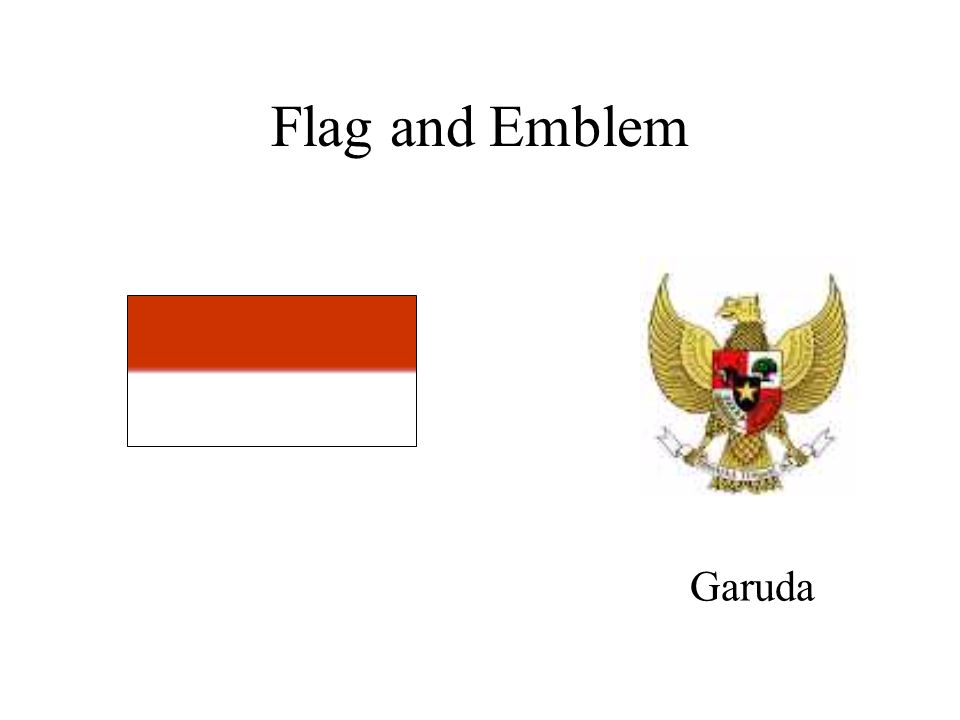 Flag and Emblem Garuda