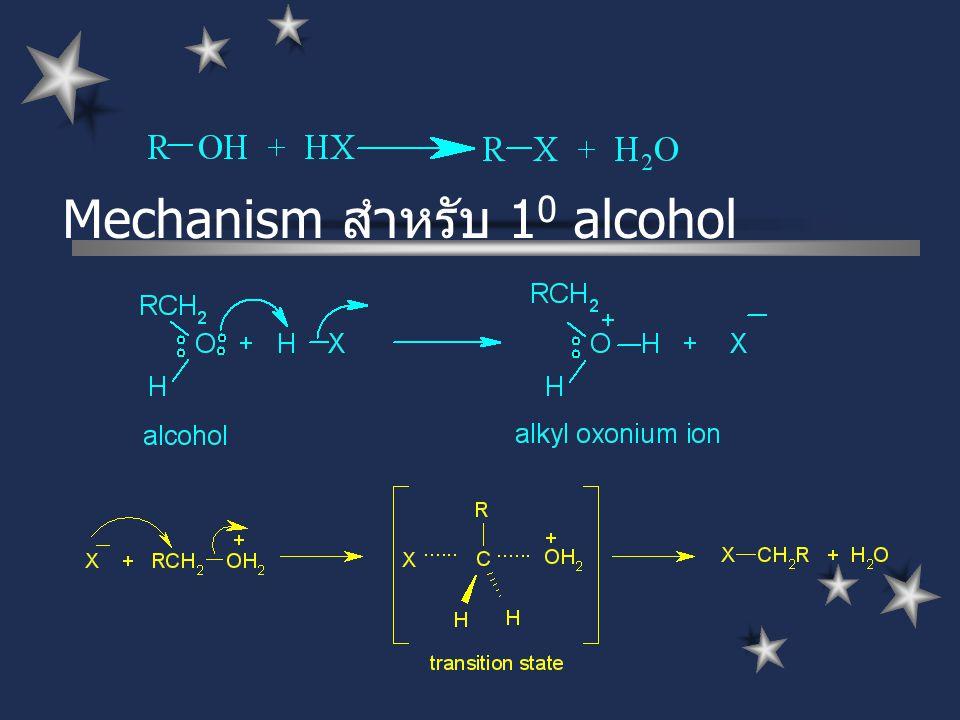 Mechanism สำหรับ 1 0 alcohol