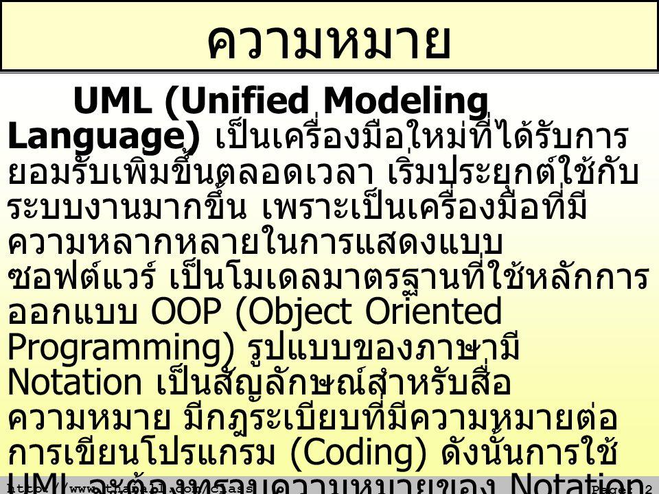 http://www.thaiall.com/class Page: 13 2.1 Meaning เส้นแสดงความสัมพันธ์เชิงความหมาย 1.