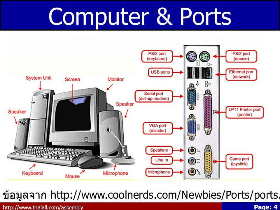 http://www.thaiall.com/assembly Page: 15 Media Reader อ่านสื่อได้หลายแบบ เช่น CF/CFII, MD, SM/SMC/XC, SD/Mini SD, MMC/RS_MMC, MS/MS PRO/MS DUO/MS PRO DUO/MS-Magic/MS.