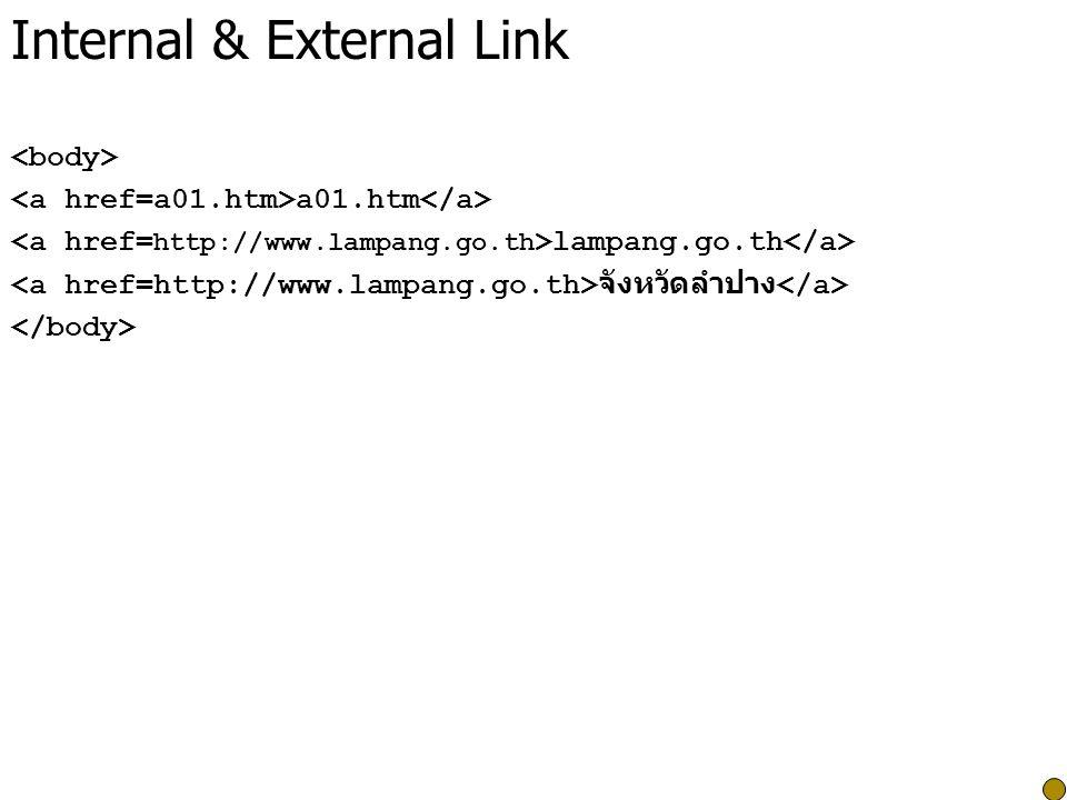 Internal & External Link a01.htm lampang.go.th จังหวัดลำปาง