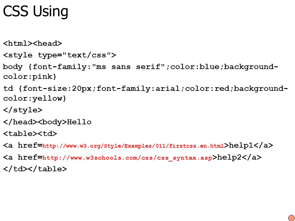CSS Using body {font-family: