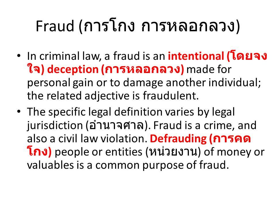อาชญากรรมคอมพิวเตอร์ (Computer Crime หรือ Cyber Crime) 1.