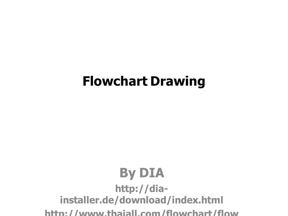 Flowchart Drawing By DIA http://dia- installer.de/download/index.html http://www.thaiall.com/flowchart/flow chart1.zip