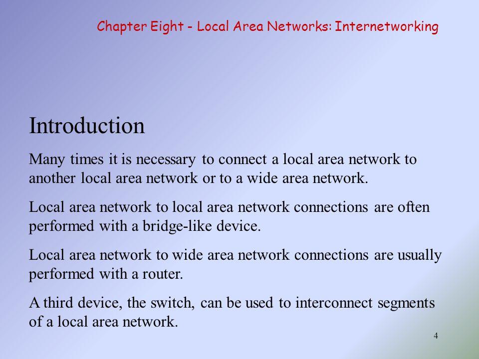 Exercise อะไรคือเหตุผลในการเชื่อมต่อเครือข่าย ตั้งแต่สองเครือข่ายขึ้นไป จงบอกหลักการทำงานของอุปกรณ์ต่อไปนี้ hub, bridge, transparent bridge, switch และ router จงบอกความแตกต่างของ switch, hub และ bridge Backward learning และ cut-through architecture คืออะไร เกี่ยวข้องกันหรือไม่ อย่างไร หากท่านทำงาน ณ บริษัทเล็กๆ แห่งหนึ่งที่มี จำนวนพนักงานจำนวน 12 คน มีเวิร์คสเตชั่น 5 เครื่องที่ต้องการเชื่อมต่อกับอินเตอร์เน็ต จงออกแบบเครือข่ายทั้งหมดที่เป็นไปได้ พร้อมบอกข้อดี ข้อเสียในแต่ละแบบ พร้อม บอกถึงทางเลือกที่ดีที่สุด 45