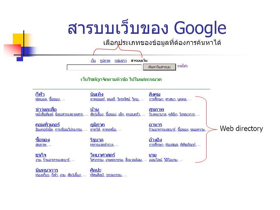 เทคนิคพิเศษของ google 8.