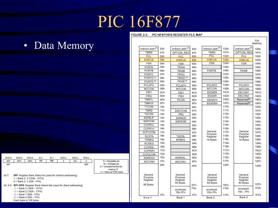 PIC 16F877 Data Memory 25 ELectronic วท. อุบลราชธานี