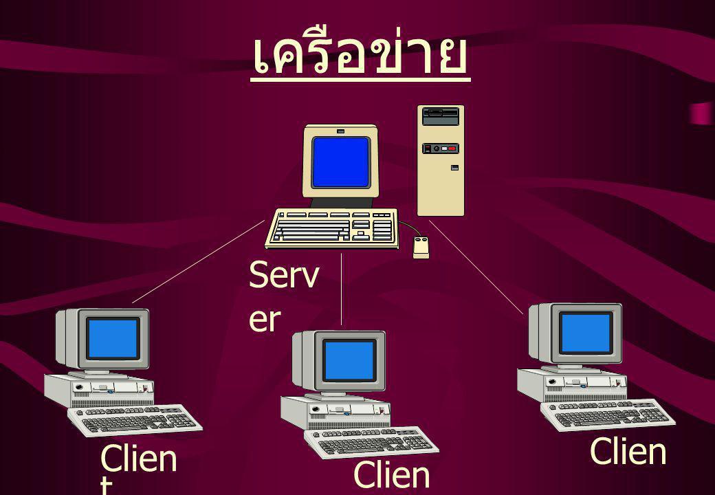 เครือข่าย Clien t Serv er Clien t