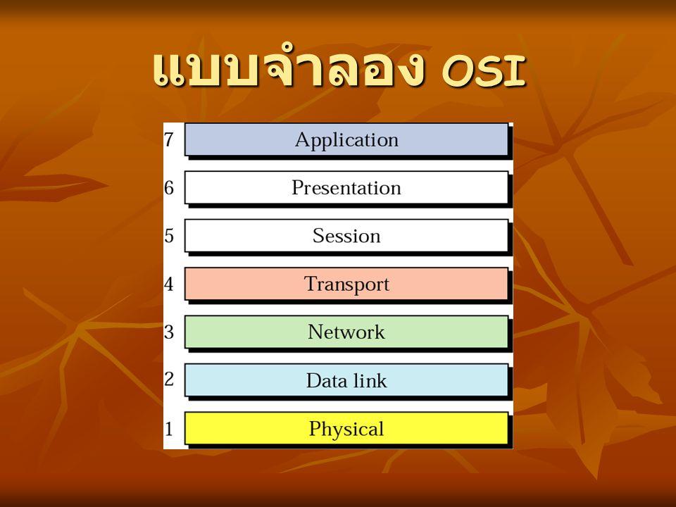 แบบจำลอง OSI
