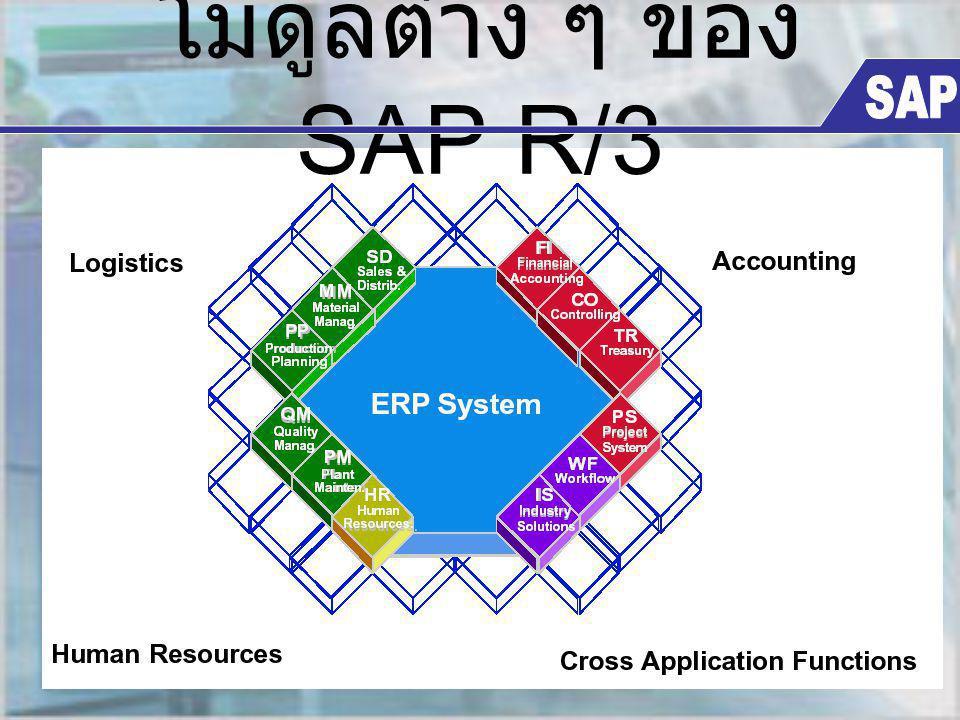 โมดูลต่าง ๆ ของ SAP R/3