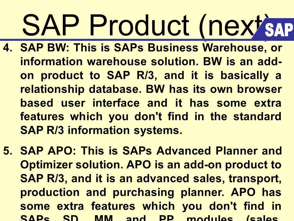 SAP Product (next) 6.