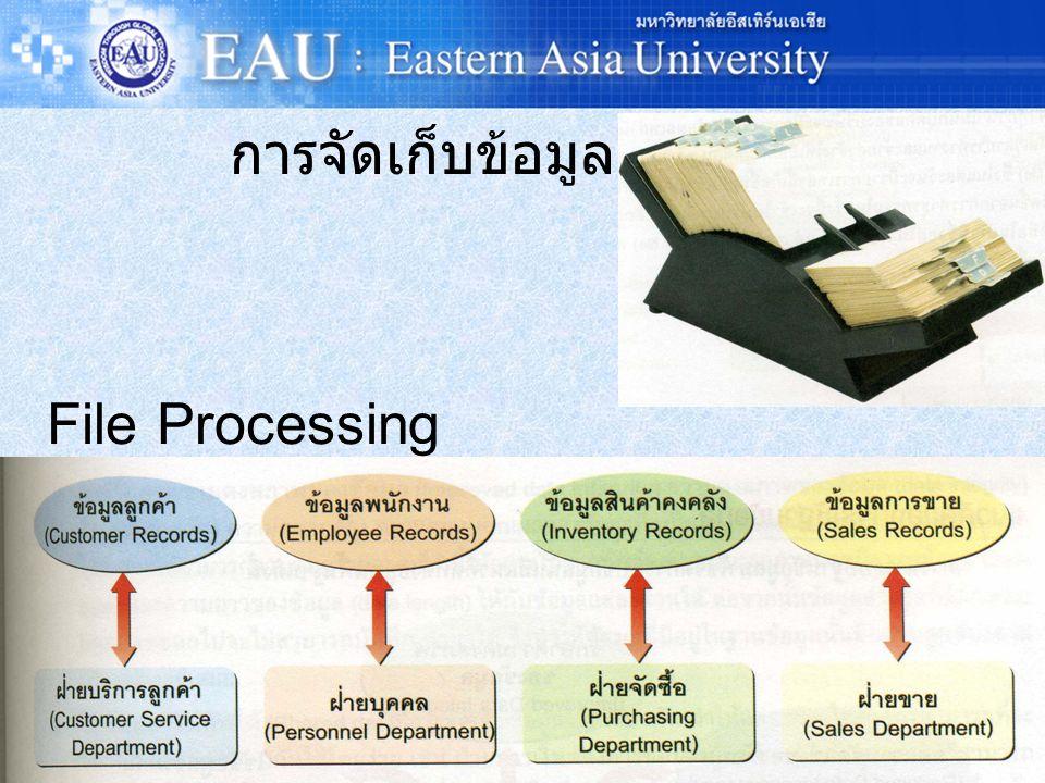 การจัดเก็บข้อมูล File Processing