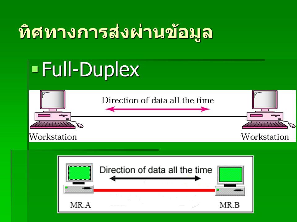 ทิศทางการส่งผ่านข้อมูล  Full-Duplex