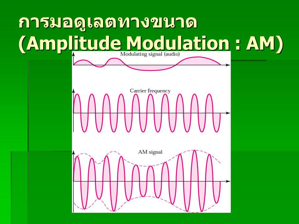 การมอดูเลตทางขนาด (Amplitude Modulation : AM)