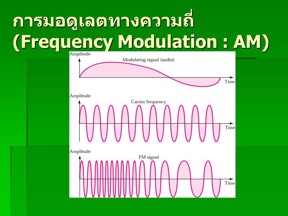 การมอดูเลตทางความถี่ (Frequency Modulation : AM)