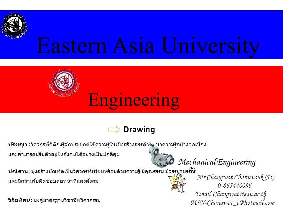 12 MECHANICAL ENGINEERING Eastern Asia University Drawing By Mr.Changwat Charoensuk-0-865440096,Email-Changwat@eau.ac.th,MSN-Changwat_c@hotmail.com 3.3 Geometrical tolerance