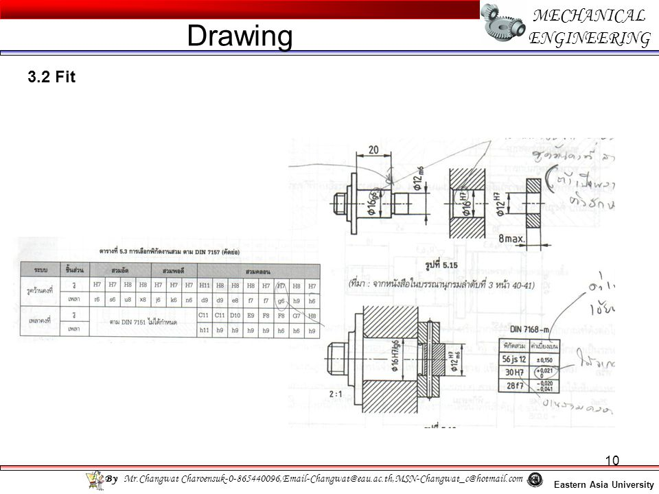 10 MECHANICAL ENGINEERING Eastern Asia University Drawing By Mr.Changwat Charoensuk-0-865440096,Email-Changwat@eau.ac.th,MSN-Changwat_c@hotmail.com 3.