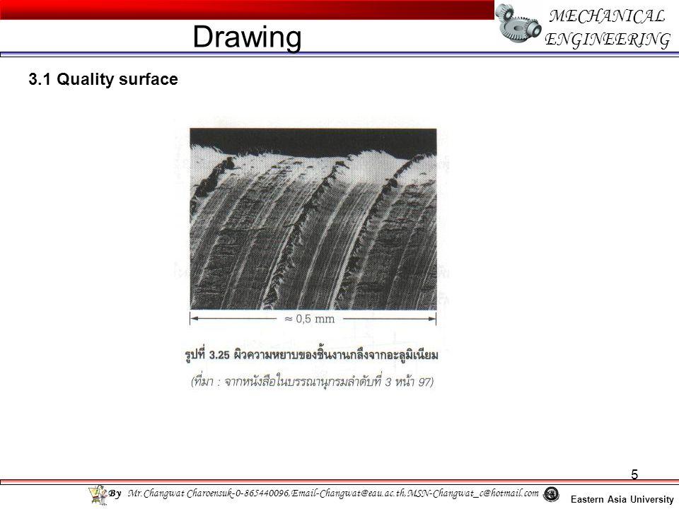 16 MECHANICAL ENGINEERING Eastern Asia University Drawing By Mr.Changwat Charoensuk-0-865440096,Email-Changwat@eau.ac.th,MSN-Changwat_c@hotmail.com 3.3 Geometrical tolerance
