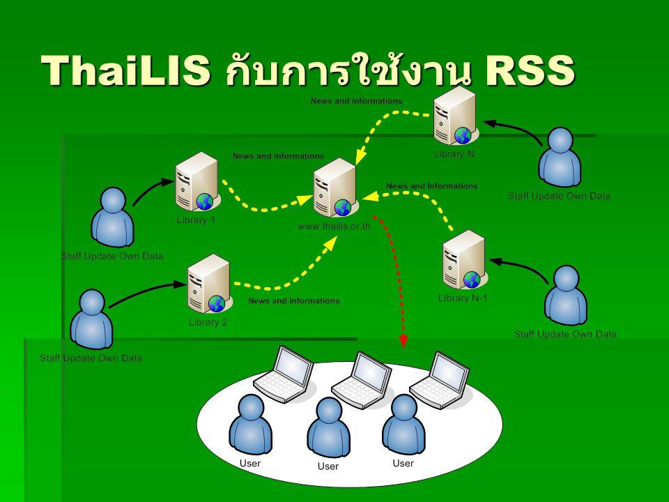 ThaiLIS กับการใช้งาน RSS