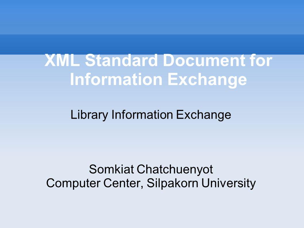Library Document Create XML document from - MARC XML DTD