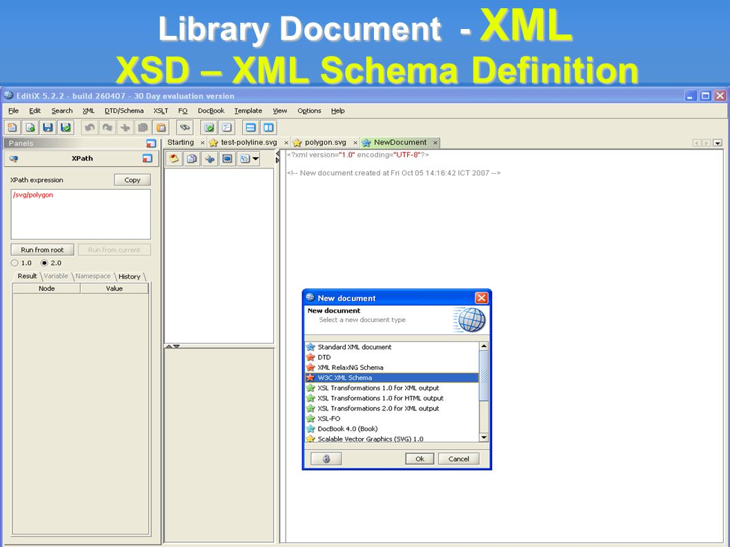 Library Document - XML XSD – XML Schema Definition
