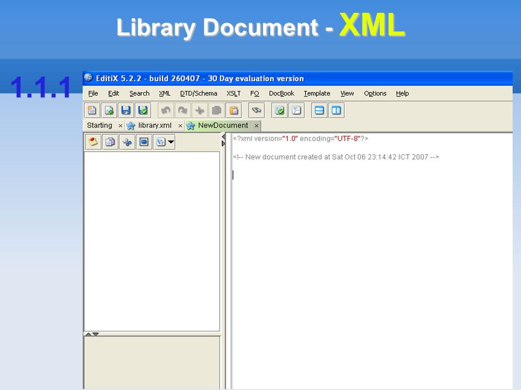 Library Document - XML 1.1.1