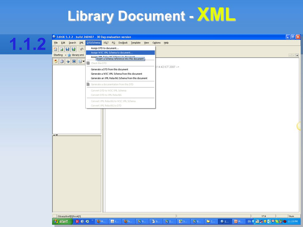 Library Document - XML 1.1.2