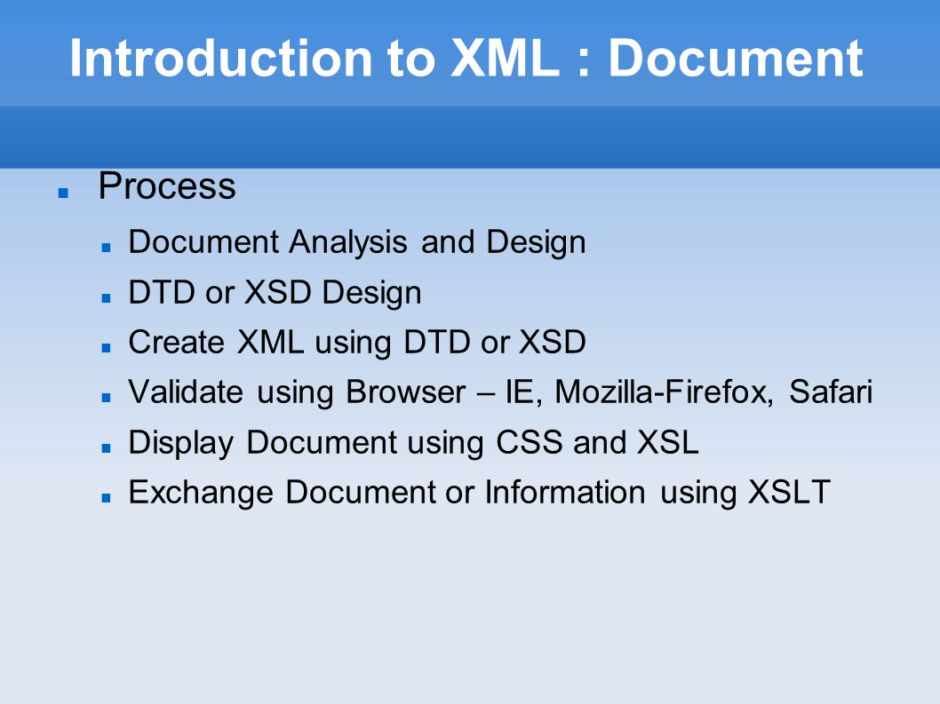 Introduction to XML : CML