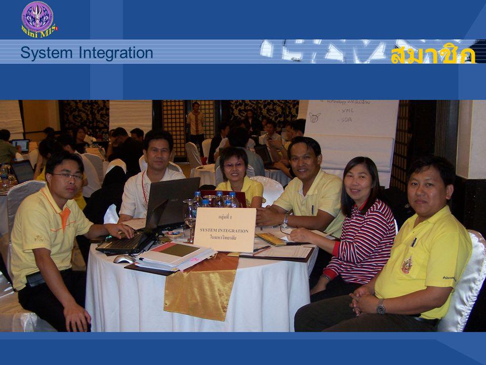 System Integration สมาชิก